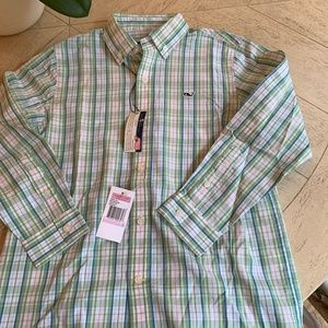 NWT Size 6 Vineyard Vines Whale Button Down